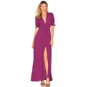 YUMI KIM Lady Luck Dress in Burgundy XXS